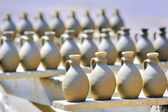 Drying ceramic vase — Stock Photo