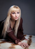 Portrait of sexual blond woman — Stockfoto