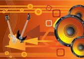 Beauty abstract vector orange music background — ストックベクタ