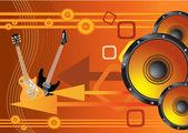 Schoonheid abstract vector oranje muziek achtergrond — Stockvector