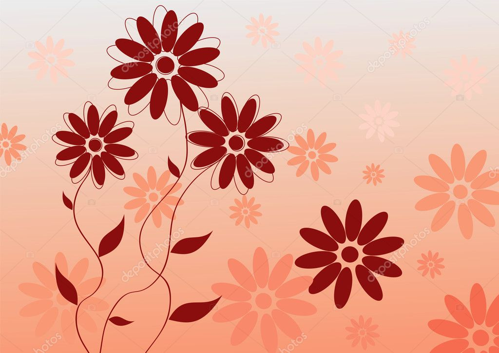 Abstract vector pink flower background — Stock Vector #8543870