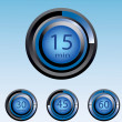 Royalty-Free Stock Vector Image: Blue timer display vector illustration eps10