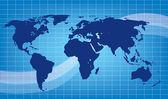 Ilustração em vetor abstrato terra azul — Vetor de Stock