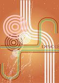 Saleté abstraite de fond rétro disco — Vecteur