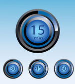 Temporizador azul visor vector ilustração eps10 — Vetorial Stock