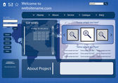 Аннотация eps10 дизайн веб-сайта земли — Cтоковый вектор