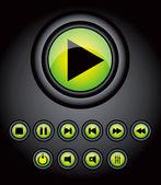 Green vector buttons for web design eps10 — Stock Vector