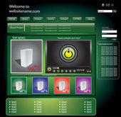 Green web site original design eps 10 — Stock Vector