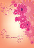 Abstract flower pink background eps 10 — Stock vektor