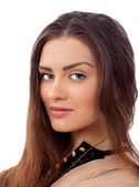 Beauty young woman face portrait — Stock Photo