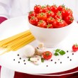 Chef Ingredients for Italian Pasta - Stock Photo
