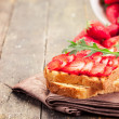 Strawberry Arugula Sandwich — Stock Photo