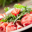 Bacon Arugula Salad — Stock Photo