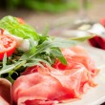Bacon Arugula Salad — Stock Photo
