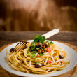 Pasta with Olives and Parsley — Stock Photo #8068064