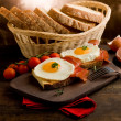 Stock Photo: English Breakfast with Eggs and Bacon