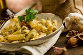 Pasta with Walnut pesto — Stock Photo