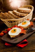 English Breakfast with Eggs and Bacon — Stock Photo