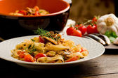 Pasta with Sardines — Stock Photo
