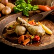 Stewed Chicken with vegetables — Stock Photo