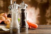 Salt and Pepper Mill — Stock Photo
