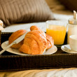 Breakfast in the bedroom — Stock Photo #8257295