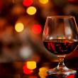 Cognac in front of a bokeh background — Stock Photo