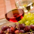Wine and grapes - Foto Stock