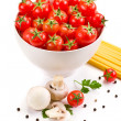 Ingredients for italian Pasta — Stock Photo