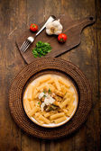 Pasta with Sicilian pesto — Stock Photo