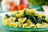 Orecchiette with Turnip tops — Stock Photo