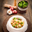 Pasta with sausage and broccoli — Stock Photo #9135459