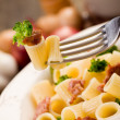 Pasta with sausage and broccoli — Stock Photo