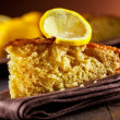 Lemon Cake on wooden table — Stock Photo