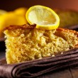 Stock Photo: Lemon Cake on wooden table