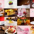 dessert collage — Stockfoto