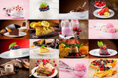 Dessert collage — Stockfoto