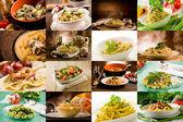 Italiaanse pasta collage — Stockfoto