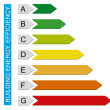 Building energy efficiency chart - Stock Photo