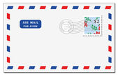 Air mail envelope — 图库照片