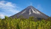 Den aktiva sidan av vulkanen arenal — Stockfoto