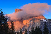 Alpenglow on Half Dome — Stock Photo