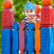 Young boy in bandana on playground — Stock Photo #10471669