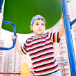 Young boy in bandana on playground — Stock Photo #10487139