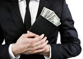 笔记本和金钱 — 图库照片