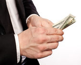 Hands with money — Stock Photo