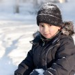 Winter portrait of young cute boy - Stock Photo