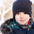 Winter portrait of a  boy — Lizenzfreies Foto