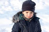 Zimní portrét chlapce — Stock fotografie
