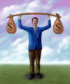 Money lifting — Stock Photo